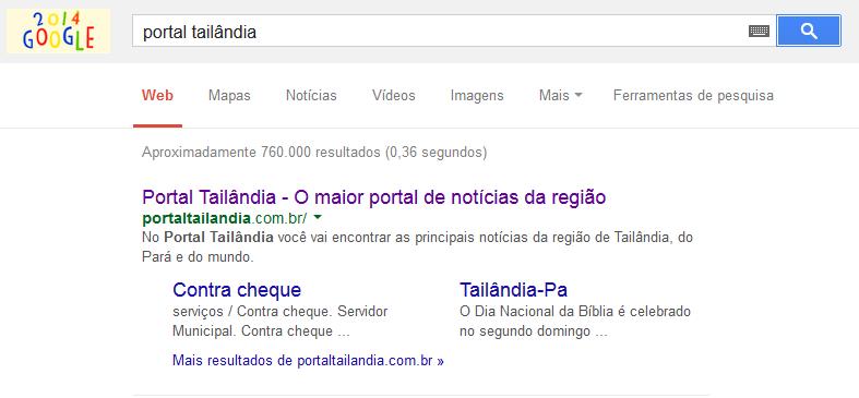 Portal Tailândia, nº 1 da pesquisa no Google sobre Tailândia