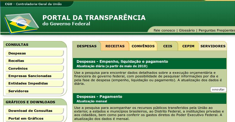 Portal da transparência é obrigatório
