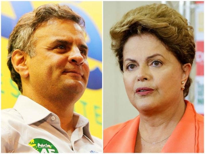 Aécio Neves aparece em vantagem sobre Dilma Rousseff na pesquisa do instituto Veritá