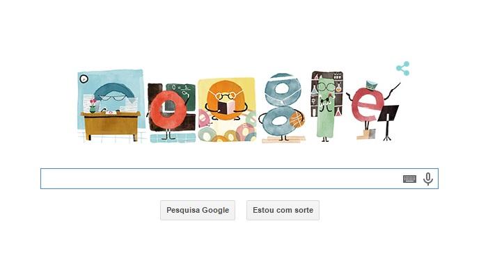Dia dos Professores é celebrado com Doodle do Google (Foto: Reprodução/Google)