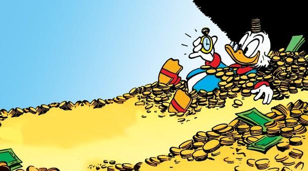 Para ter sua piscina de dinheiro, busque soluções de produtividade (Foto: Reprodução: Tio Patinhas/Duck Tales)