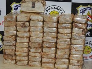 Droga foi transportada do Mato Grosso para o Pará. (Foto: Divulgação/ Policia Civil)