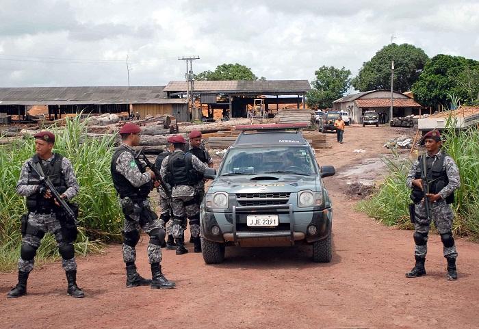 Soldados na Força Nacional (Foto: Wilson Dias/Abr)