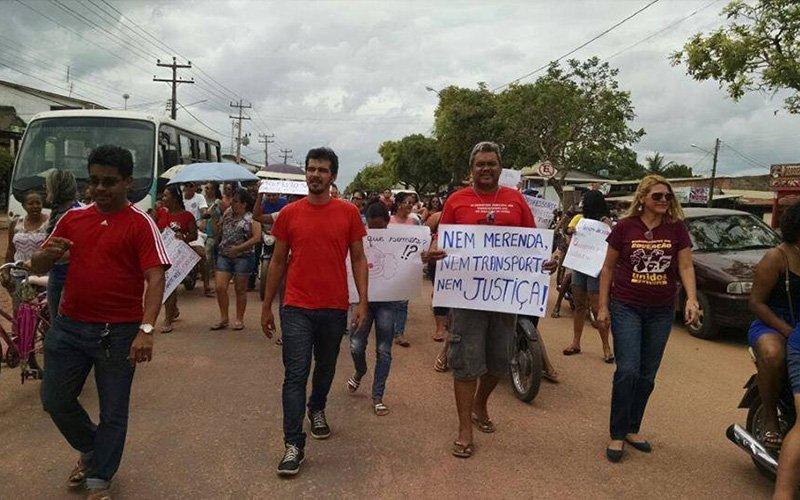 Professores reivindicam salários atrasados e outros benefícios. (Foto: Divulgação/Sintepp)