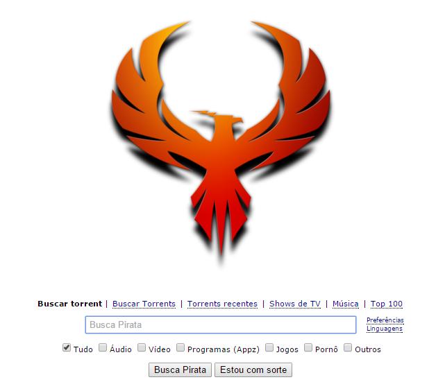 Maior serviço de download de torrents volta com imagem de fênix.