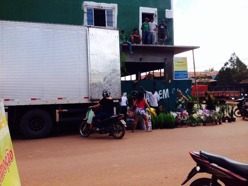 Caminhão vendendo plantas em Tailândia (Foto: Portal Tailândia)
