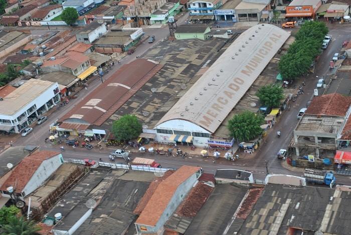 Vista aérea do centro de Tailândia