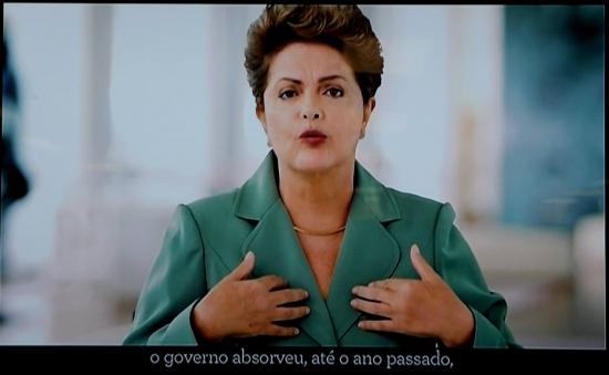 Dilma gastou a maior parte do tempo defendendo o ajuste fiscal (Foto: reprodução)