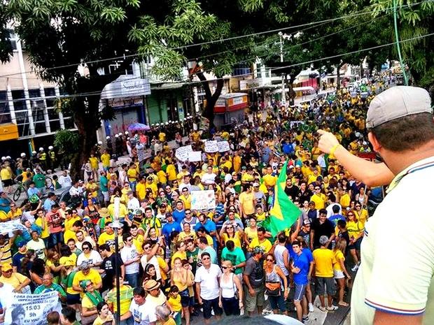 Segundo estimativa da PM, 30 mil manifestantes participaram do ato (Foto: Alexandre Yuri/ G1)