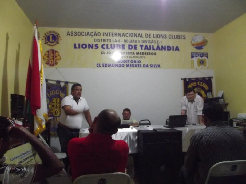 A reunião ocorreu na sede do Lions Clube de Tailândia