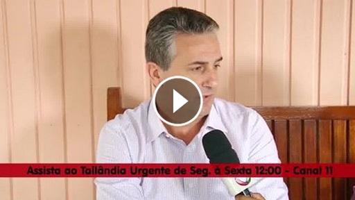 Roberto Carlos Gambim  fala em mais uma de suas muitas e recentes aparições na emissora local BMTV, afiliada a Rede Record (Imagem: BMTV)