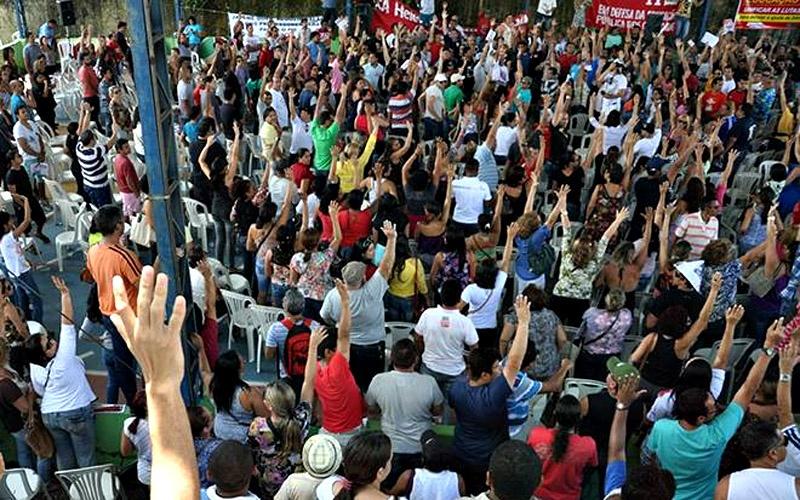 Os professores votaram pela continuidade da greve no Pará. (Foto: Divulgação/Sintepp)