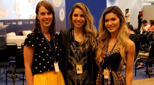 Sabrina Olivetti, Ane Medina e Jessica Belcost, na Campus Party Recife (Foto: Agência Sebrae de Notícias)