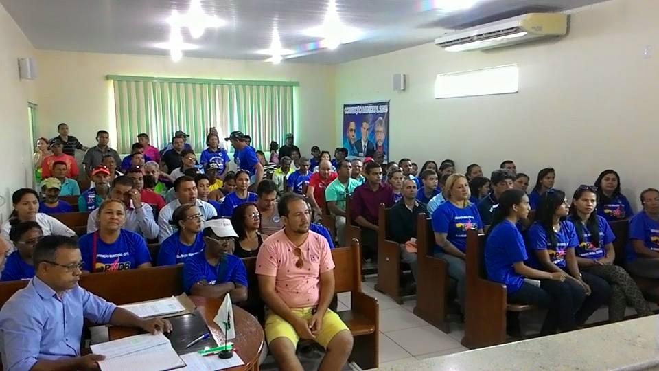 Convenção municipal do PMDB na Câmara de Vereadores de Tailândia (Foto: divulgação)