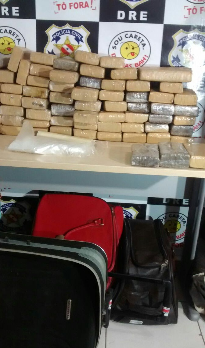Cocaína apreendida pela DRE. (Foto: Polícia Civil)