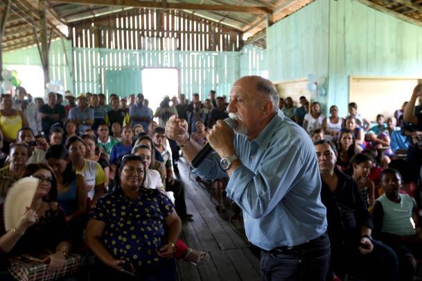 O governador Simão Jatene lembrou que o Pará foi um dos primeiros Estados a reconhecer a questão dos territórios quilombolas e a fazer a titulação (foto: Ag. Pará)