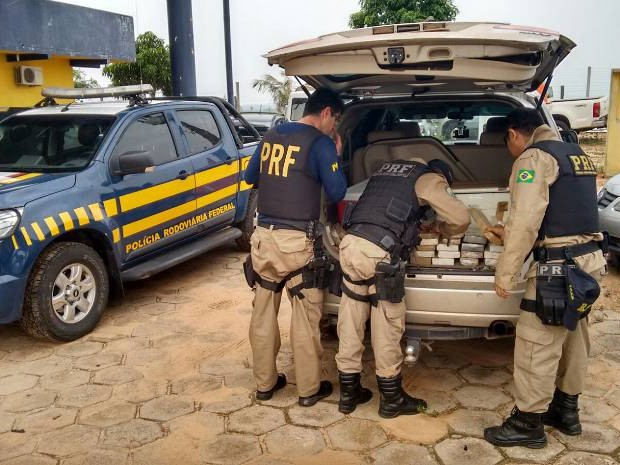 PRF apreende 46 quilos de cocaína, em Marabá, sudeste do Pará. (Foto: Ascom/PRF)