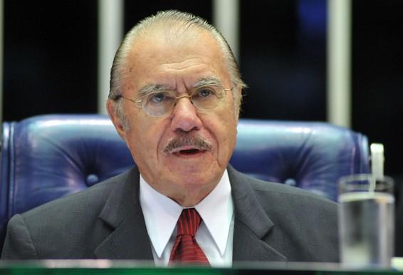 O ex-presidente José Sarney foi o campeão em perdas de homenagens (foto: reprodução)