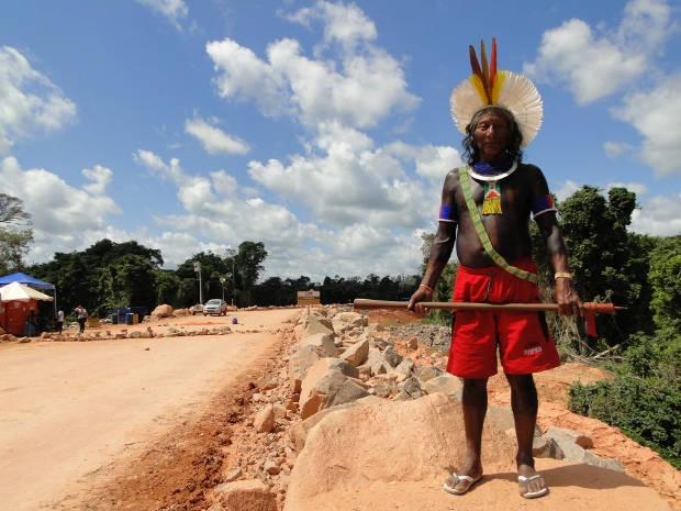 Índio em Belo Monte (Foto: Mário de Paula / TV Liberal)