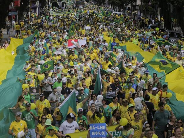 Segundo a organização do evento, cerca de 50 mil pessoas participaram do ato. (Foto: Tarso Sarraf/O Liberal)