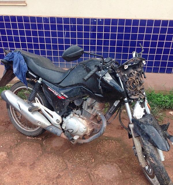 Moto roubada e usada no assassinato (foto: divulgação)