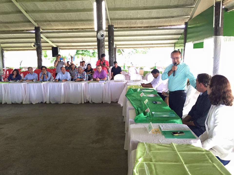 O prefeito Ney da Saúde, anfitrião do evento foi um dos prefeitos que estiveram na 20ª reunião do Coges (Foto: Josenaldo Jr / Portal Tailândia)