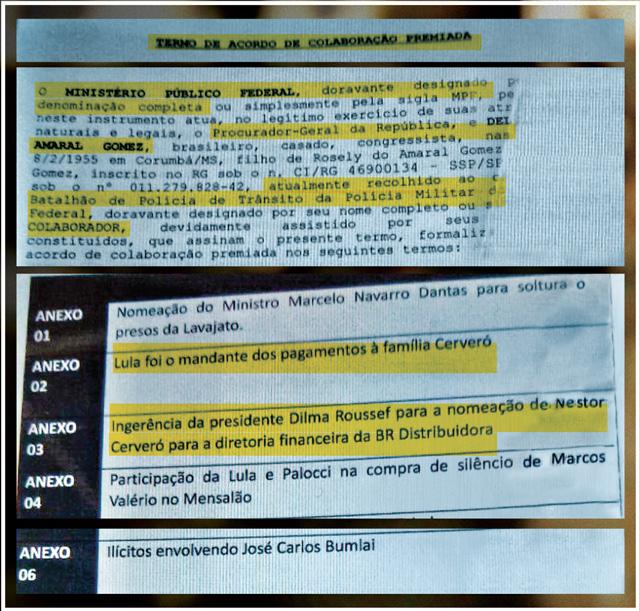 Teor explosivo: Depoimento prestado no STF por Delcídio do Amaral (PT-MS) aguarda a homologação. Na parte inferior, o termo de acordo e os principais tópicos da delação