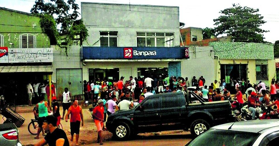 Em janeiro, o assalto assustou moradores de Concórdia do Pará. (Foto: Via WhatsApp)